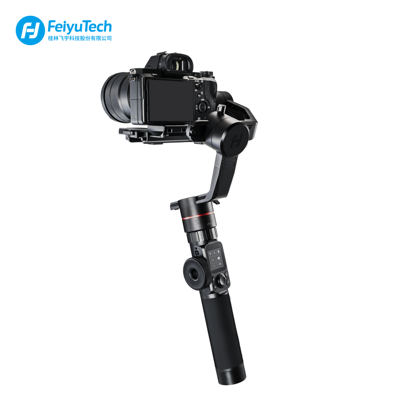 FeiyuTech Feiyu AK2000 3-Axis Brushless Handheld Camera Stabilizer Gimbal for Sony Canon 5D 6d Panasonic GH5 Nikon D850 2.8KG beholder ds1 3 axis handheld gimbal stabilizer for a7s canon 6d 5d 7d dslr camera