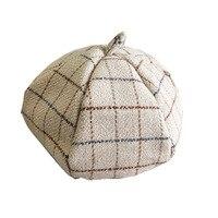 Lady beret autumn winter Korean version of Japanese style matching black wool casual pumpkin hat British fashion artist hat