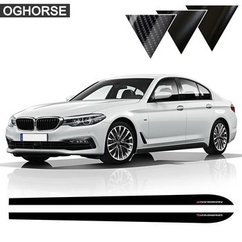 M Performance Side Stripe Skirt Sticker Decal for BMW F30 F31 X5 F15 X6 F16 E60 F32 f34 F22 E90 F10 F11 F01 F02 G30 Z4 E89 F20 for bmw e90 e92 e93 f20 f21 f30 f31 f32 f33 f34 f15 f10 f01 f11 f02 g30 m performance side skirt sill stripe body decals sticker