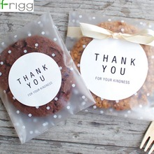 Frigg 100pcs/60pcs Candy Bag Transparent Plastic Cookie Gift Frosted OPP Birthday Party Packaging Pouch