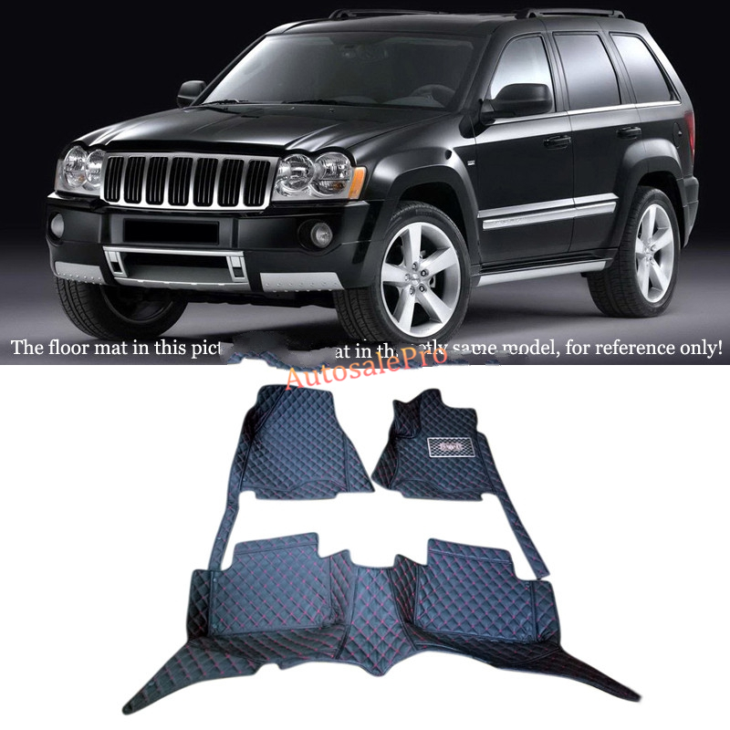Left & Right Hand Drive! Black red grid Front Rear Floor Mat Carpets Pad Cover For Jeep Compass 2011 2012 2013 2014 2015 2016|Exterior Door Handles|Automobiles & Motorcycles - title=