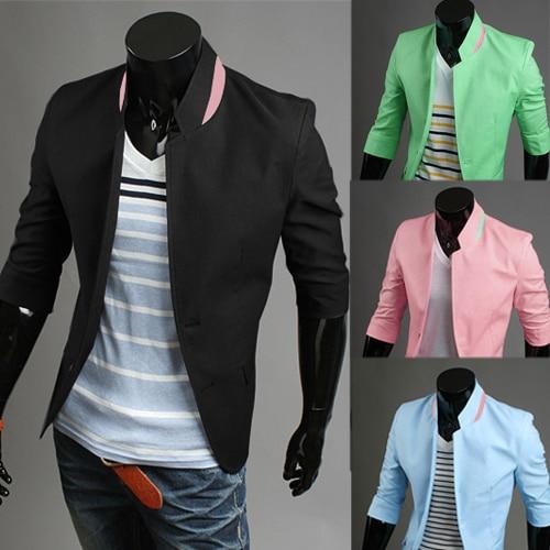 39e7c8d1785 2014 men's suit jacket slim fit New Fasion Men's Blazer coat half-sleeved  outwear Free Shipping PX25
