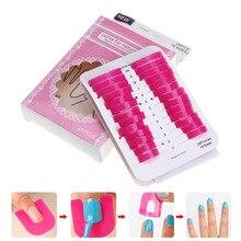 26pcs/lot Plastic Nail Polish Anti-overflow Clamp Pink DIY Manicure Finger Tips Protector Reusable Art Tools