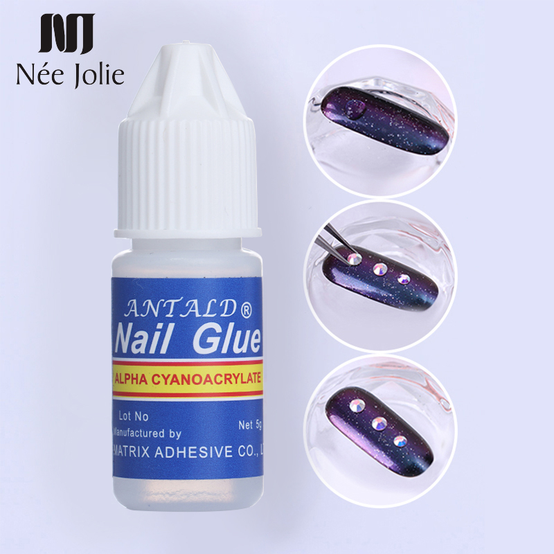 1 PC Nail Glue For Flase Nails Fast-dry 3D Decoration Nail Rhinestone Adhesive Liquid Fake French False Tips Cosmetic Tool