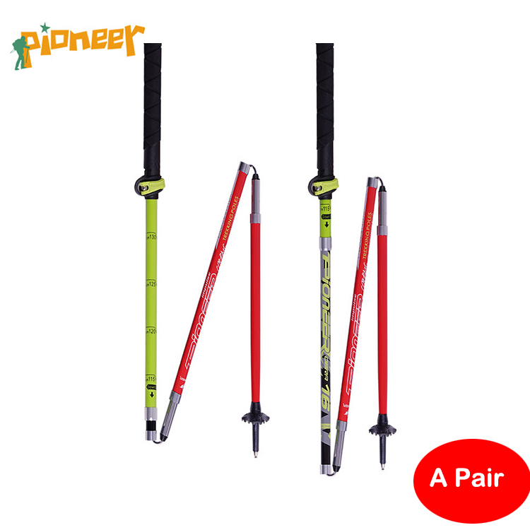 POINT BREAK 2pieces Pioneer- 16 Series of Mountain Walking Stick Walking Cane Walking Walking Cane Ultra Short Folding Stick walking wounded