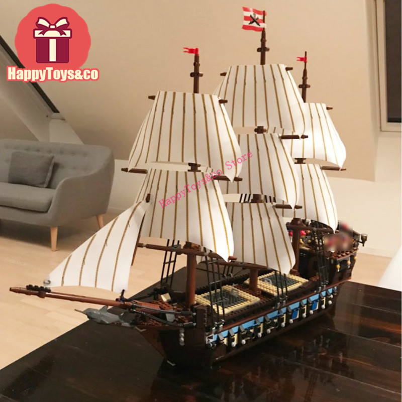 LEPIN Movie series 10210 1717Pcs Ship Imperial warships toys For Children Gift 22001 Building Blocks Pirates of the Caribbean lepin 22001 pirates series the imperial flagship model building blocks set pirate ship legoings toys for children clone 10210