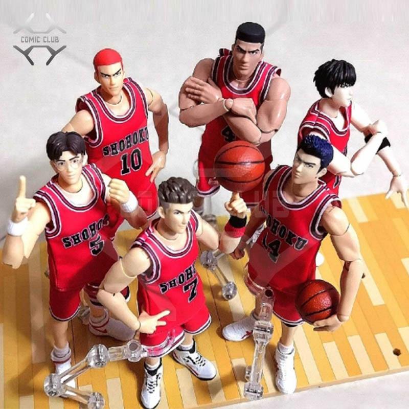COMIC CLUB Dasin SLAM DUNK Miyagi Ryota Akagi Takenori Hanamichi Sakuragi Rukawa Kaede Mitsui Hisashi Action Figure Toy