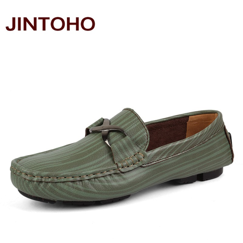 JINTOHO big size 35-50 men genuine leather loafers casual slip on mens moccasins luxury brand men flats fashion male shoes npezkgc new casual mens shoes suede men loafers moccasins fashion low slip on men flats shoes oxfords shoes big size 45 46 47 48