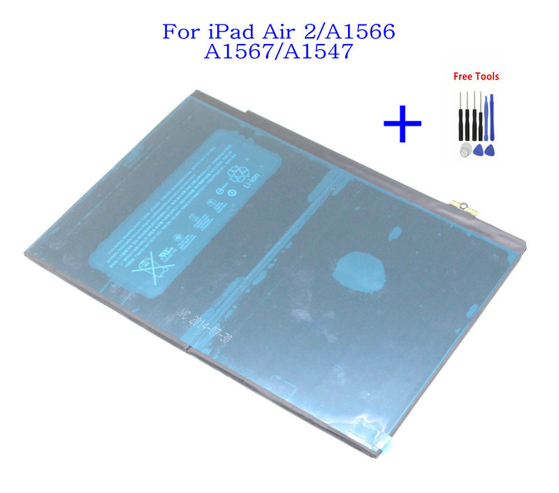 New 7340mAh Internal Replacement Battery for iPad Air 2 A1566 A1567