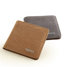 Canvas Wallet Fashion Short Bifold Men Casual Soild Wallets with Coin Pocket Purses Male