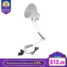 CLAITE качели гибкие установка зажима рукава лампа офис-студия домашний E27/E26 белый светодио дный лампы настольные свет AC85-265V настольная лампа лампа настольнаясветильник настольный настольные лампы
