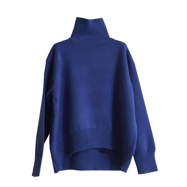 dabfd2200d7a14 Women Turtleneck Knitted Sweater Women Solid Colour Long Sleeve Casual Jumper  Sweater Woman Designer Winter Top Pullover AA51924