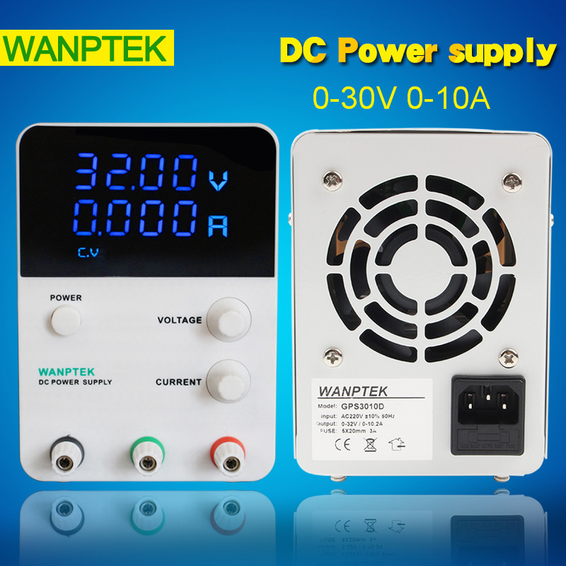 High Stability GPS3010D Switching DC mini Power supply Adjustable Laboratory 110-220V 30V/10A Voltage regulator digital power original lw mini adjustable digital dc power supply 0 30v 0 10a 110v 220v switching power supply 0 01v 0 01a 34 pcs dc jack