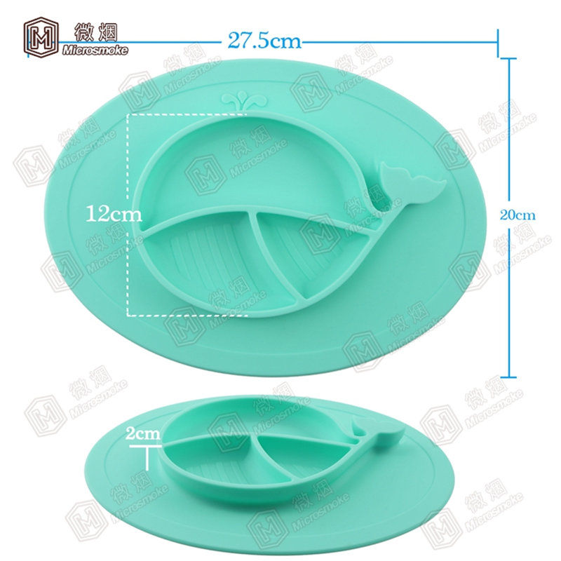 Objective Mini Whale Shape Silicone Placemat For Kids,baby Feeding Mat Dinner Mat With Bowl 7 Colors To Ensure Smooth Transmission Consumer Electronics