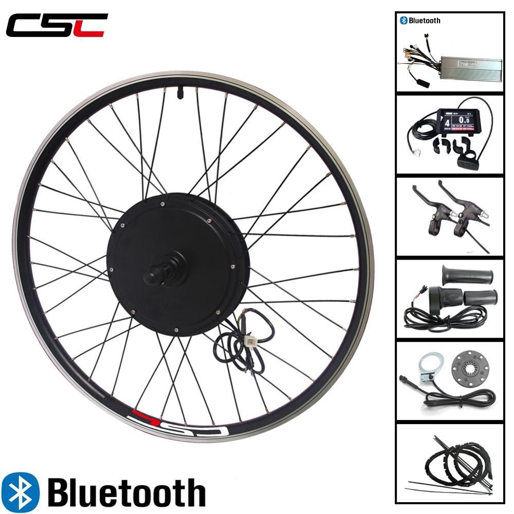 Electric Bike Conversion Kit 48V 500W 1000W 1500w EBike Motor Wheel Motor 20 29in LED LCD3