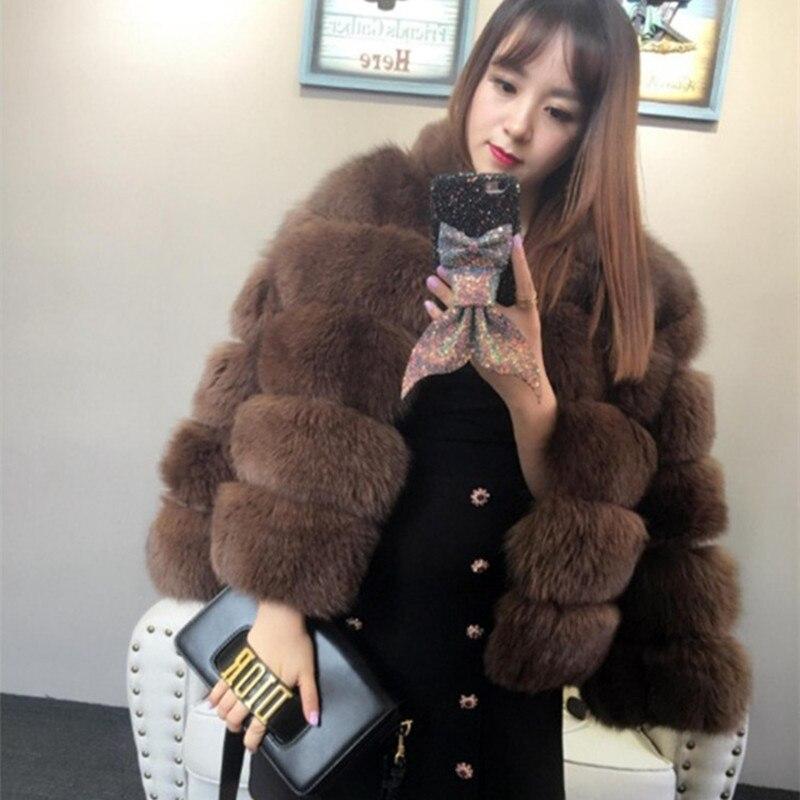 Renard Qualité Veste dark De Épais khaki Fourrure Femmes Outfit Montant Haute Manteau Grey 2018 Col Nouvelle Véritable Hiver Arrivée Beige qAwvnwzT7