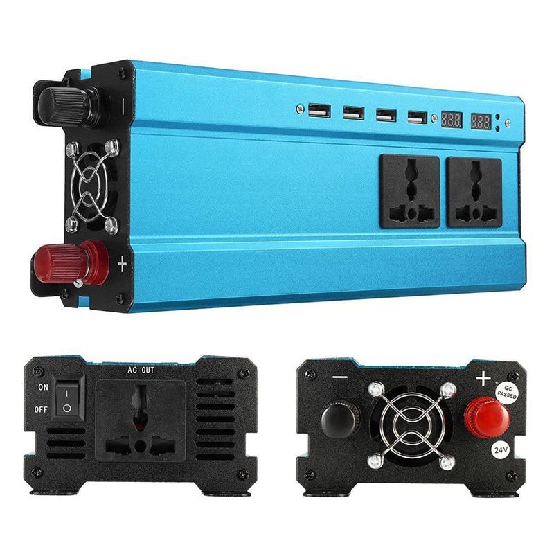 Power Adapter 5000W Solar Car Power Inverter LED DC 12V to AC 220V 12V to AC
