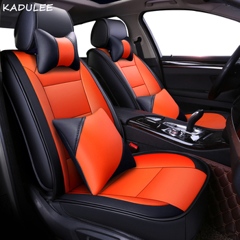 KADULEE pu leather car seat covers For BMW E46 F10 E30 E90 E34 E39 F30 E60 F11 X3 E83 X5 E53 F20 accessories covers for vehicle