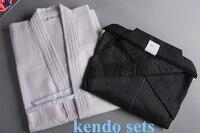 High Quality White and Black Kendo Aikido Iaido Hakama Gi Martial Arts Uniform Sportswear Dobok Free Shipping