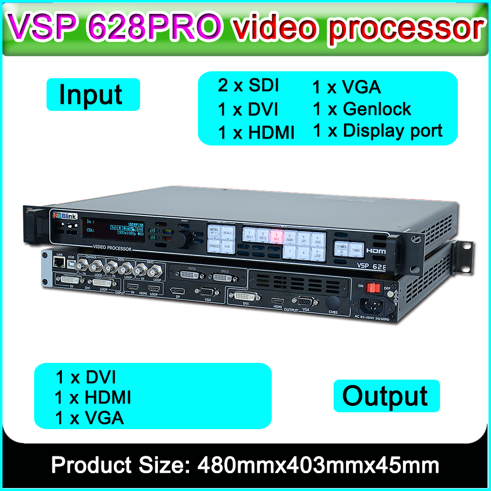 VSP 628PRO High Performance All-in-one Seamless Switching RGBlink  Video Processor