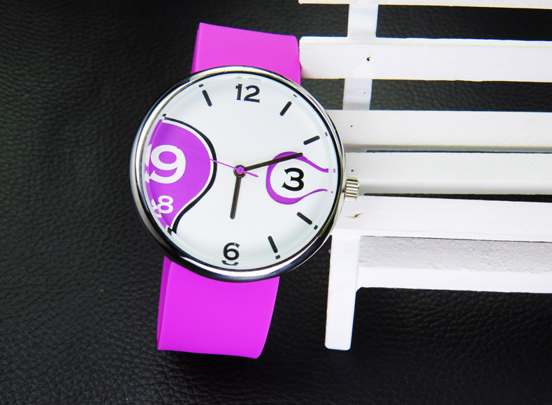 Fashion Element Couple Watch Silicone Band Wrist Watches Quartz Watch Big Dial Women Girls dames horloge коюз топаз подвески и кулоны т101031849
