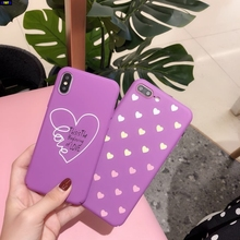Cyato Love Heart Phone Case For iphone XR XS Max X 8 7 6 6s Plus Fashion Soft TPU Cover iPhone Cases