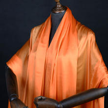 Bright orange color 100% pure silk satin silk fabric 138cm width 16momme,SSC293
