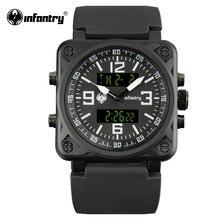 Армейские часы для мужчин, Цифровые кварцевые часы для мужчин s, лучший бренд класса люкс, квадратный армейский тактический черный силиконовый Relogio Masculino