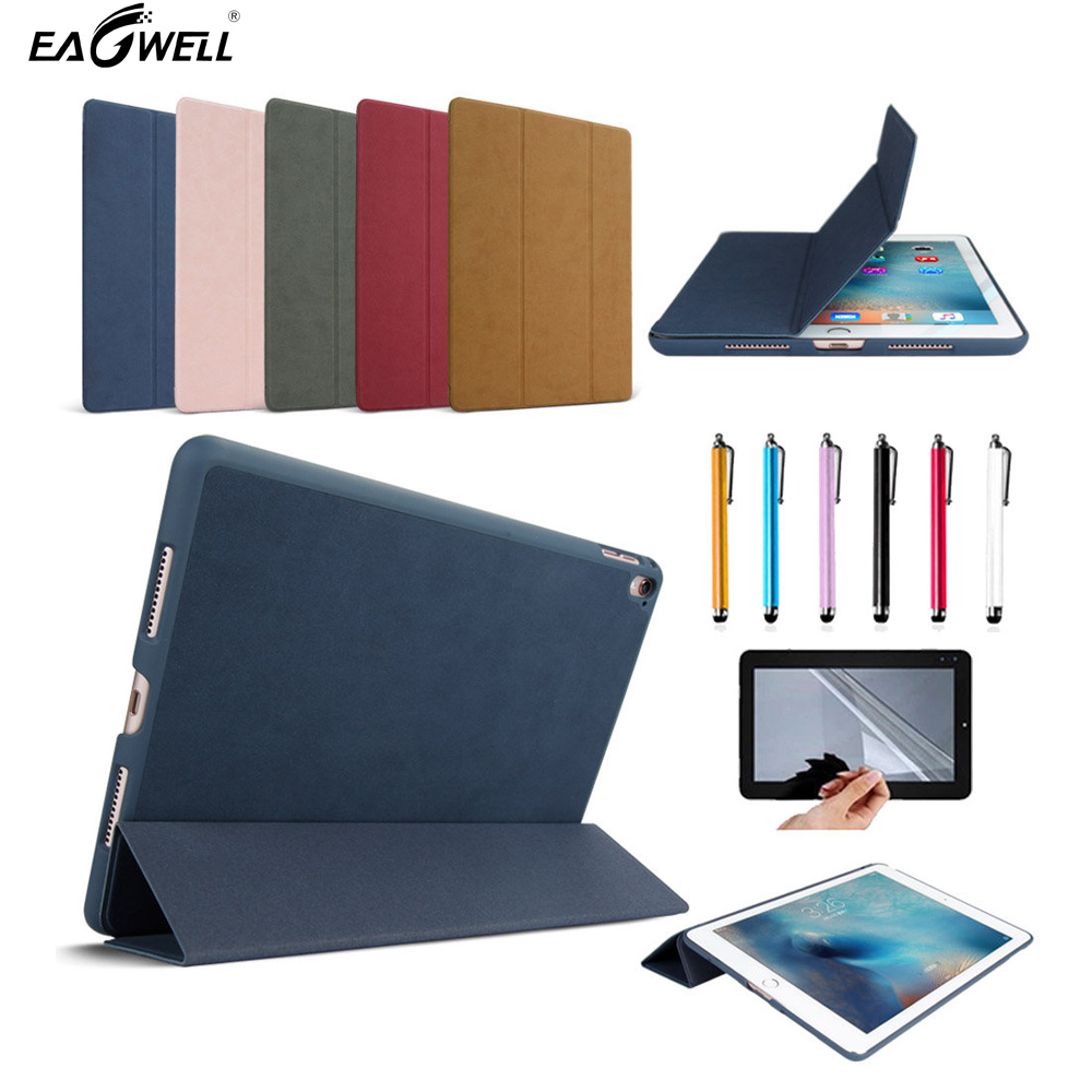 Case Cover For Apple iPad Pro 10.52017 Luxury Ultra Slim Leather Fashion Simple Solid Flip Stand Case Protective Shell Funda tpu soft back cover case slim protective cover skin for funda apple ipad pro 10 5 2017 version para coque cover stylus pen