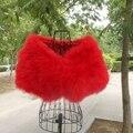 Short paragraph small fur coat bridal bridesmaid dress ostrich feathersurkey feather  tshawl vest vest waistcoat