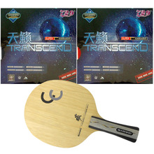 Original Pro Table Tennis/ PingPong Combo Racket: Sawei CC with 2x RITC 729 Friendship TRANSCEND CREAM Long Shakehand FL