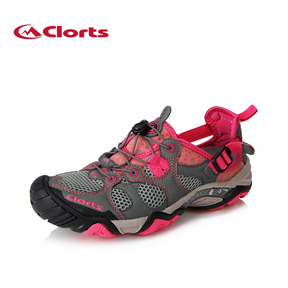 2017 Clorts Women Water Shoes Outwear Breathable Sandals Quick Dry Lightweight Beach Shoes Grey For Female Free Shipping 3H021C  2017 clorts womens water shoes summer outdoor beach shoes quick dry breathable aqua shoes for female green free shipping wt 24a