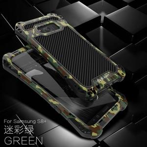 Image 5 - R JUST para samsung galaxy s8 além de proteção de fibra de carbono telefone caso de metal capa anti knock casos coque capa para samsung s8 plus