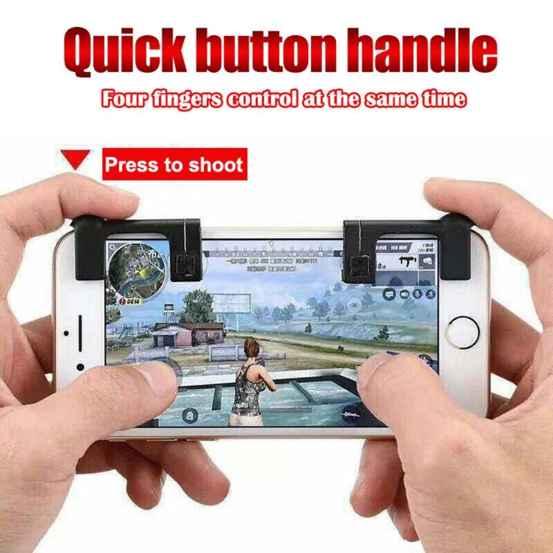VKTECH 2pcs Mobile Phone Joysticks Assist Game Controller Physical Shooting Games Joystick for STG FPS TPS Game Button