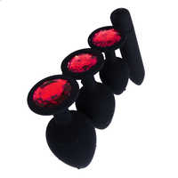 Combination Sex Toy Silicone Anal Plug With G Spot Bullet Vibrator Jewelry Red Stone Butt Plug Adult Toys For Woman Man Gay