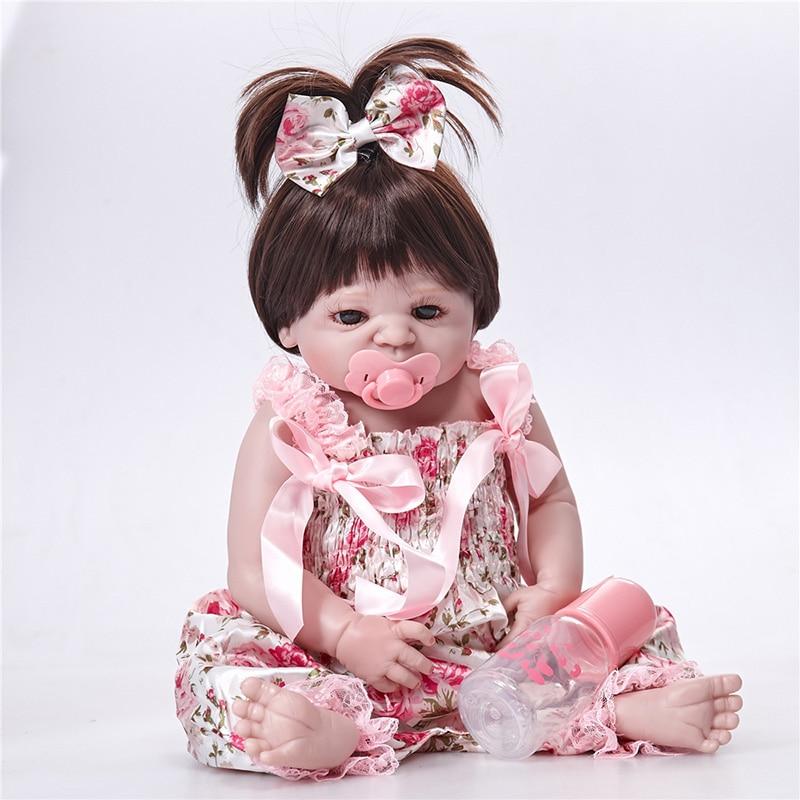 Здесь можно купить  Popular Full Silicone Dolls Reborn Bath Toys Realistia Boneca Reborn Menina Children Gifts SF5502 Girls Toys Reborn Vinyl Dolls  Игрушки и Хобби