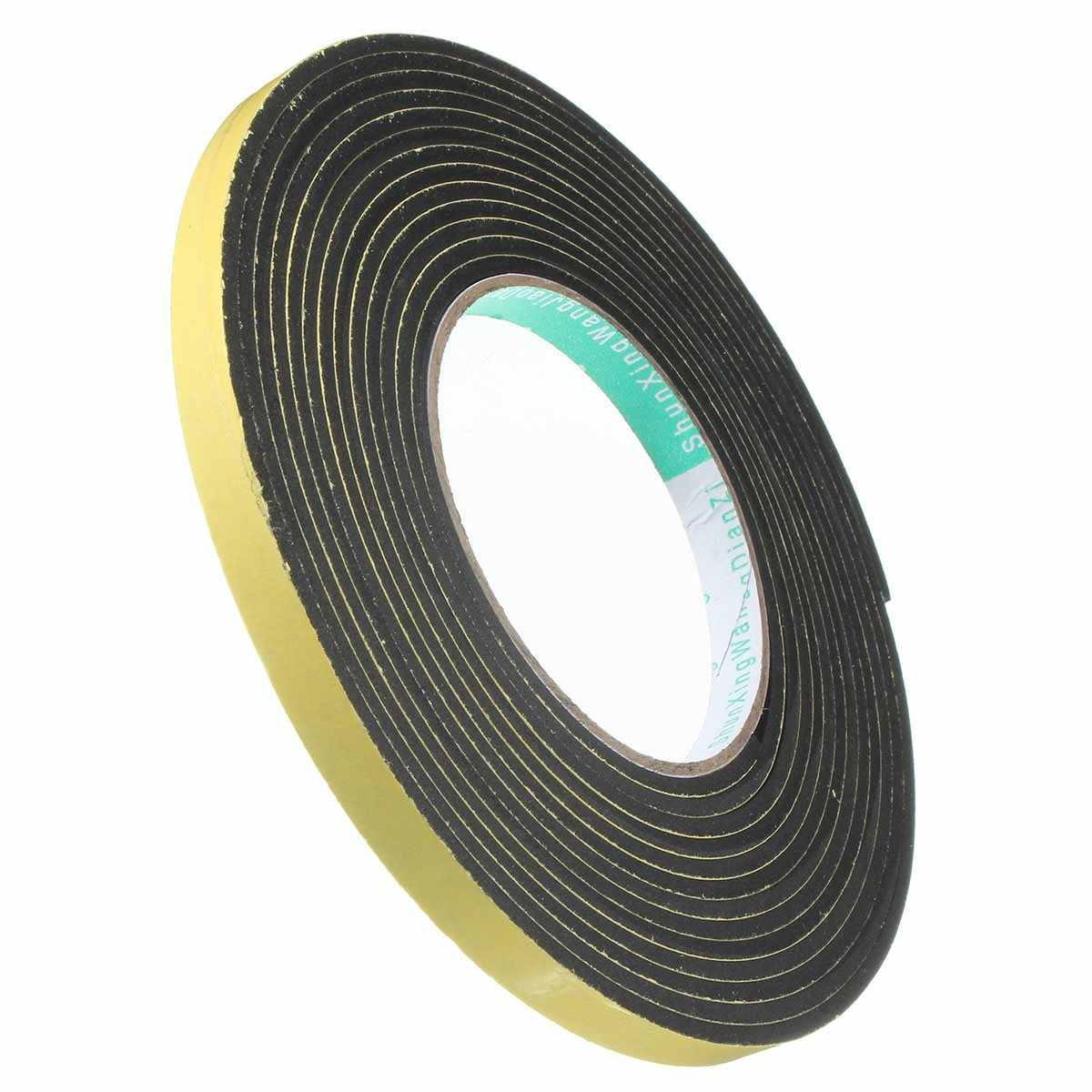 2M/5M Window Door Foam Adhesive Draught Excluder Strip Sealing Tape Adhesive Tape Rubber Weather Strip E/D/I-type