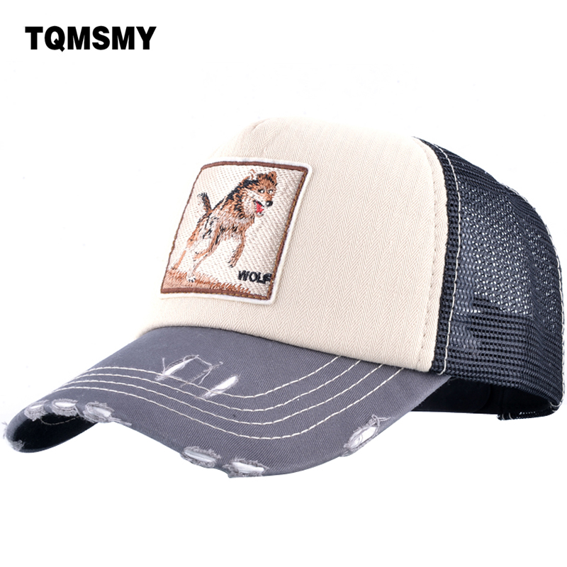 TQMSMY Unisex men summer Baseball Caps Women Breathable Mesh Snapback Hip Hop Hats Wolf Men's Trucker Caps bone Casquette TMWLL high quality baseball cap unisex sports leisure hats letter embroidery sport cap for men and women hip hop hats casquette