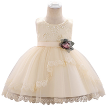 Girls Sweet Ball Gown Lace Princess Dress Flower Baby Birthday