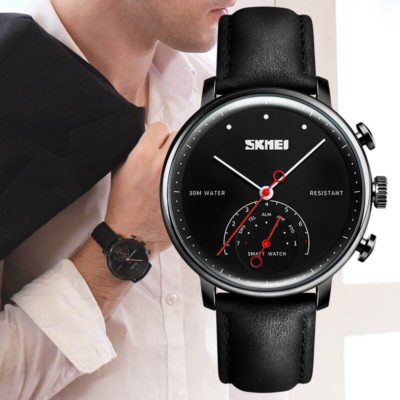 SKMEI Fashion Smart Horloge Mannen Luxe Merk Vrouwen Auto-Tijd Call Bericht Herinnering Quartz Horloges Stappenteller Sport Horl