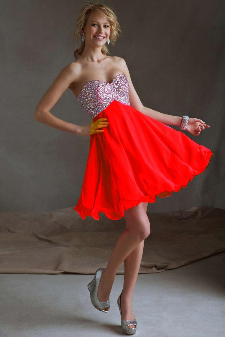 Formal In Stock Cheap Under $100 Dresses Red Sky Blue Chiffon ...