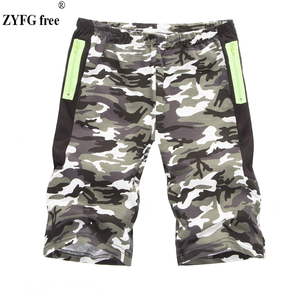 New Arrivals Men Shorts 2018 Fashion Summer Style Cotton Casual Popular Slim Camo Color Personality Zipper Shorts Men EU/US Size
