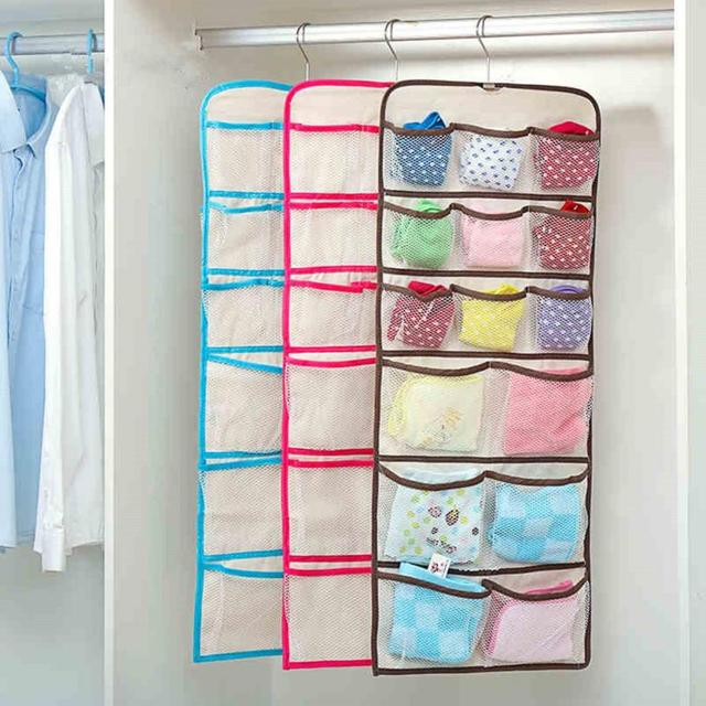 22pocket Hanging Underwear Bra Cosmetic Double Sided Storage