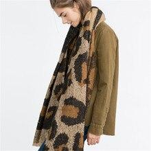 2016 Explosion New Brand Za Women Scarf Leopard Wram Wraps Winter Warm Tartan Shawls 75*200cm