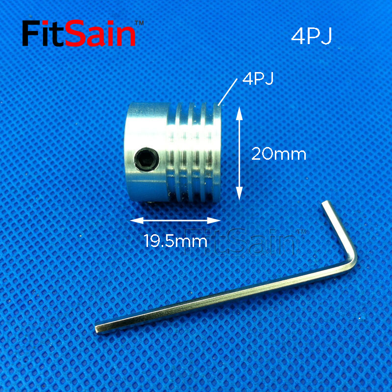 FitSain-Multi wedge 4PJ Belt pulley 20mm 4 slots for motor shaft 8mm/10mm Planer belt machine power tool accessories ribbed belt image