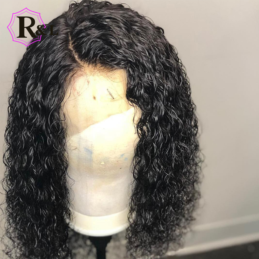 RULINDA Curly Wig Brazilian Lace Front Human Hair Wigs With Baby Hair Lace Front Wig Remy Hair Pre Plucked Bleached Knots(China)