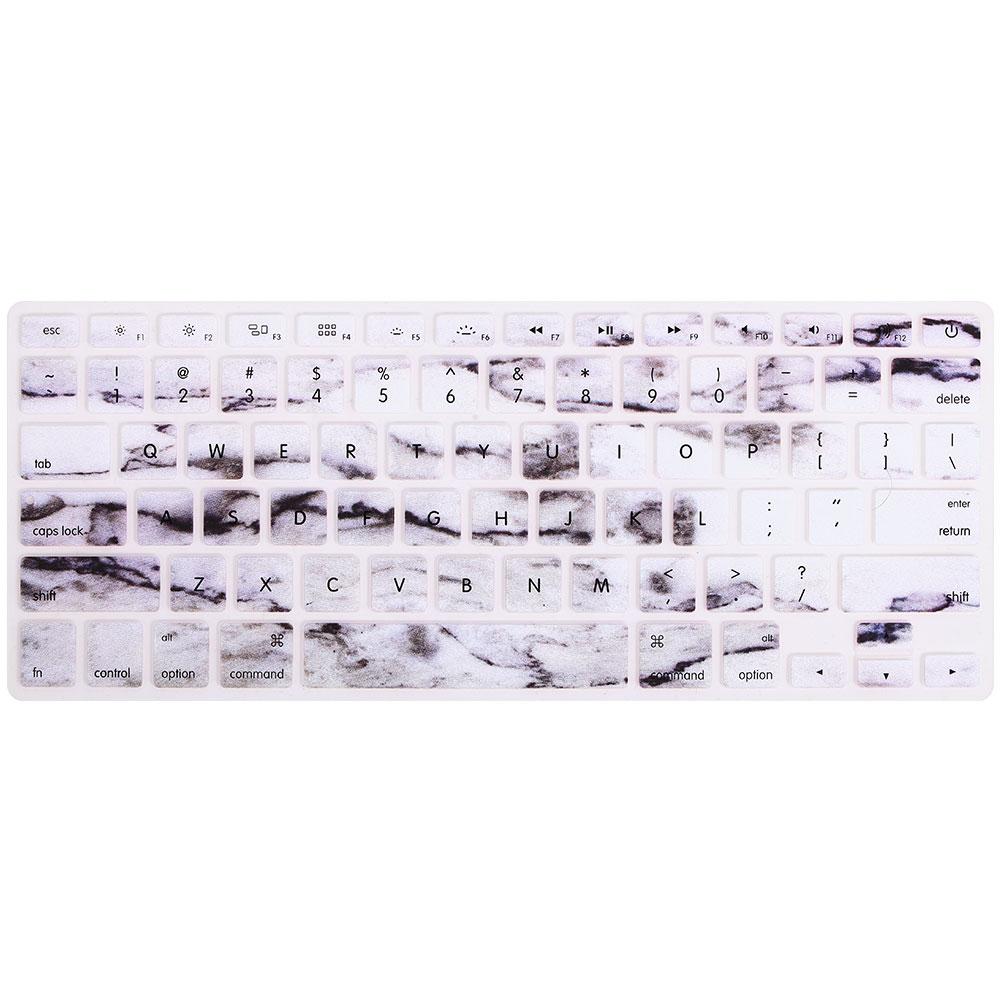 Силикагель крышка клавиатуры мембраны клавиатуры силиконовая форма офисная прочная для Macbook Pro 13/15/17 дюймов Macbook Air/Pro/отбой Тетрадь - Цвет: marble black ink