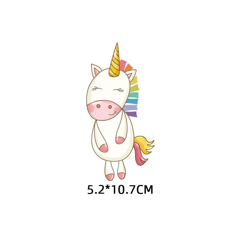 Милые маленькие животные Единорог Сова собака кошка патч для одежды стикер для детей мальчик девочка DIY патчи Футболка теплопередача Винил - Цвет: zt1105