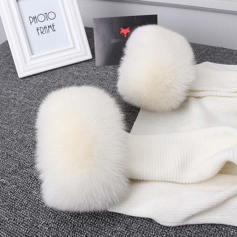 Image 5 - Ms. minshu real raposa pele punhos das mulheres 100% natural de pele de raposa mangas para mulheres casaco mais quente manga jaqueta de pele punhos de pele fofo-in Cachecóis femininos from Acessórios da Moda on AliExpress