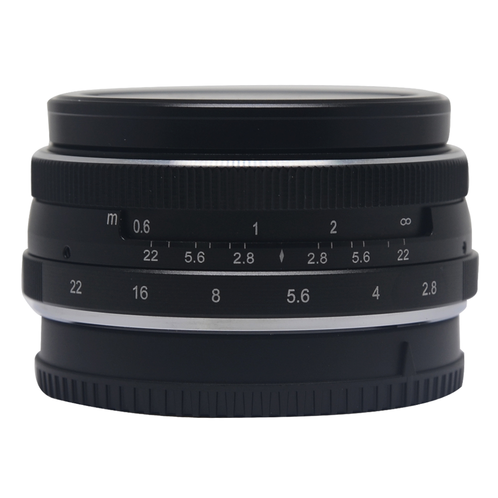 Meike MK-28mm f2.8 large Aperture Manual Multi Coated Focus lens APS-C for Fujifilm Mirrorless cameras X-A1 X-A2 X-E1 X-E2 X-E2S рога для велосипеда m wave алюминиевые резиновые прямые короткие черные литые 5 408172